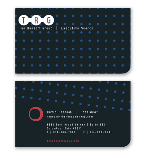 executive business card design one