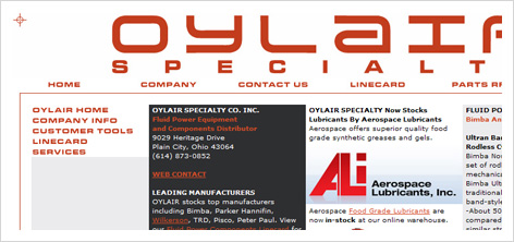 oylair website design