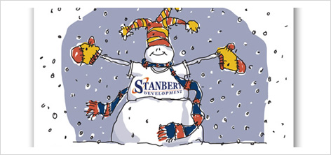 stanbery holiday card design