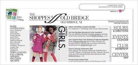 the shoppes web site design
