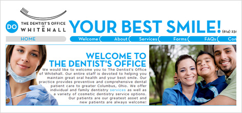 whitehall dentist website development